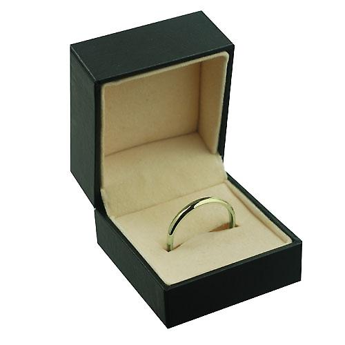 18ct Gold 3mm plain Court shaped Wedding Ring Size T