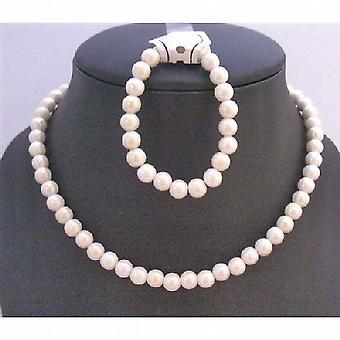 Elfenben runde perler halskæde perfekte piger Birthday Party afkast gaver