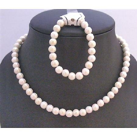 Ivory Round Beads Necklace Perfect Girls Birthday Party Return Gifts