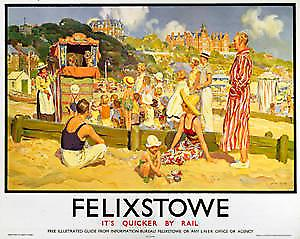 Felixstowe (old LNER ad.) fridge magnet