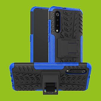 Para o caso de híbrido Xiaomi MI 9 2 parte proteção capa case bolsa de Blau exterior SWL