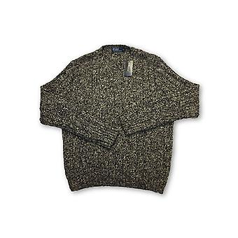 Ralph Lauren Polo knitwear in brown and cream marl