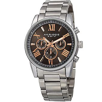 Akribos XXIV Men's Swiss Quartz Multifunction Bracelet Watch AK912SSGY