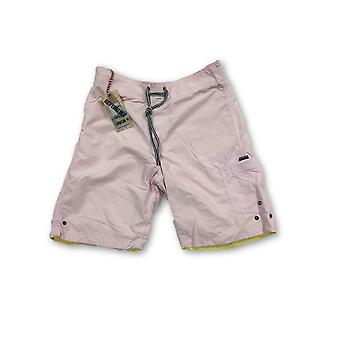 Tailor Vintage reversible swi shorts in pink/yellow