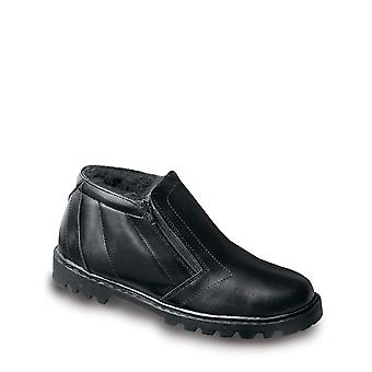 Mens Toronto Leather Warm Lined Twin Zip Boots
