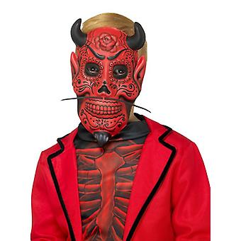 Childrens Day of the Dead Devil Masque Halloween Fancy Dress Accessoire