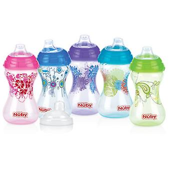 Nuby ergonomic cup decorated 300ml Click It lidded