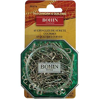 Curved Safety Pins-Size 2 65/Pkg 50374