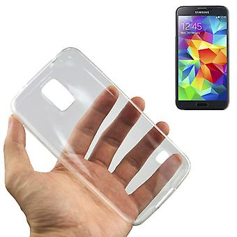 Ultra thin cellphone cover cases TPU for mobile Samsung Galaxy S5 / S5 neo transparent