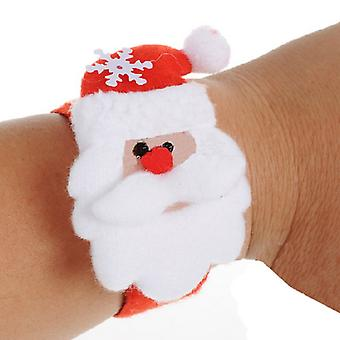 Santa bracelet plush fabric Christmas decoration winter funny joke
