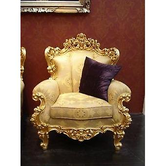baroque armchair carved frame antique style  Vp0831