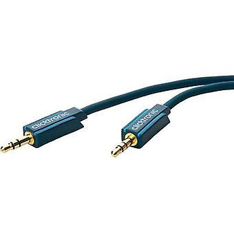 Jack Audio/phono Cable [1x Jack plug 3.5 mm - 1x Jack plug 3.5 mm] 10 m Blue gold plated connectors clicktronic