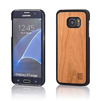 32nd Wooden Back case for Samsung Galaxy S7 Edge (SM-G935) - Pear