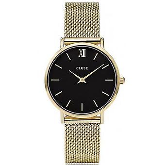 Watch Cluse midnight Mesh CL30012 - gold Milanese woman