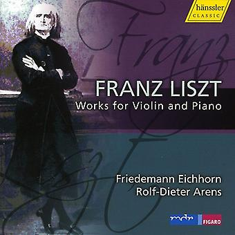 F. Liszt - Liszt: Værker for Violin & Piano [CD] USA import