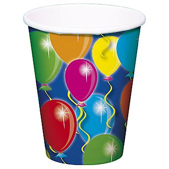 Party Cup balloon design 8 PCs birthday decoration party Cup
