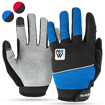 Proworks Cycling Gloves Blue - Medium