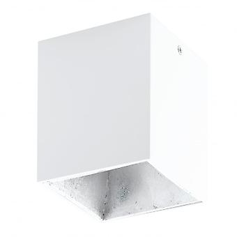 Downlight LED Eglo POLASSO blanco plata superficie cuadrado