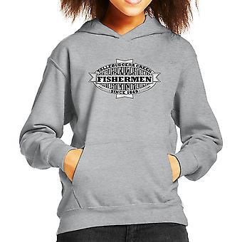 Tallebudgera Creek Fishermen 1869 Black Kid's Hooded Sweatshirt