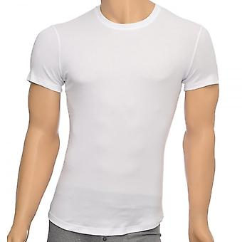 DSQUARED2 Rib Cotton Stretch Crew Neck T-Shirt, White, X-Large
