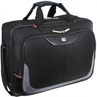 Gino Ferrari Enza 16inch Laptop Briefcase  - Black