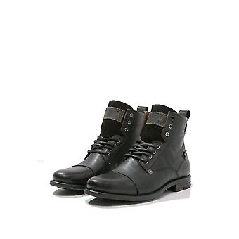 Emerson pizzo di Levi stivali - Nero-UK 7