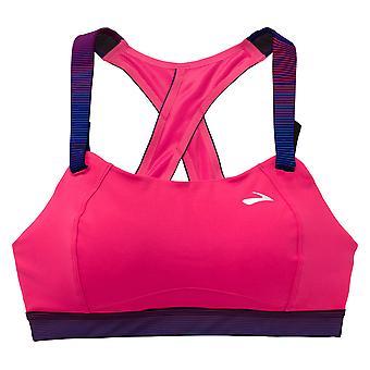 Brooks verplaatsen comfort Juno hoge impact sport BH roze - 350071-603