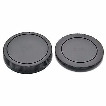 JJC Rear Lens + Camera Body Cap Cover for Canon EOS M & EF-M lenses