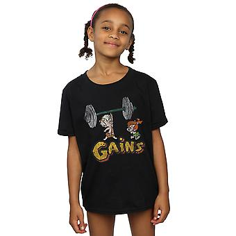 The Flintstones Girls Bam Bam Gains Distressed T-Shirt