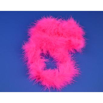 2m Bright Pink Marabou Feather Trim For Crafts