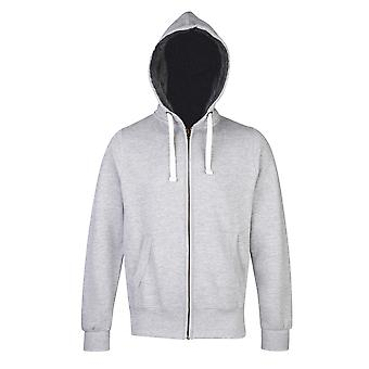 AWDis Hoods Faux Fur Lined Chunky Casual Heavyweight Full Zip Zoodie