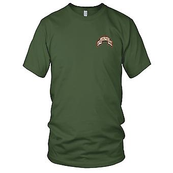 US Army - 501st LRS Airborne Infantry Desert Embroidered Patch - Mens T Shirt