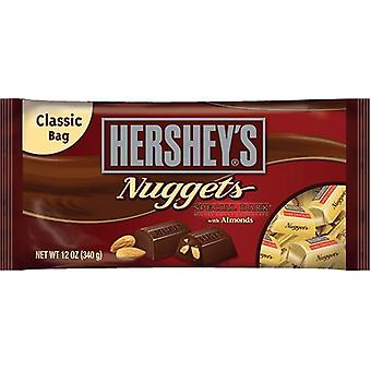 Hershey's Nuggets Special Dark Chocolate with Almonds Candy 2 Bag Pack