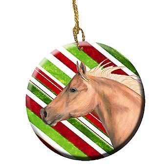 Лошадь тростника конфеты праздник Рождества керамические орнамент