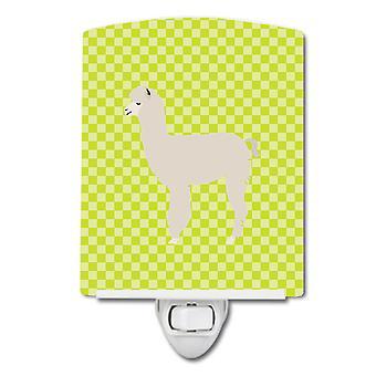 Carolines Treasures  BB7745CNL Alpaca Green Ceramic Night Light