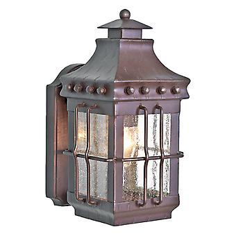 Elstead MERROW wrought iron exterior wall lamp, IP23