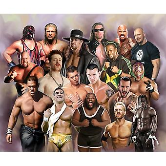 Wrestling Superstars Poster Print by Wishum Gregory (20 x 24)