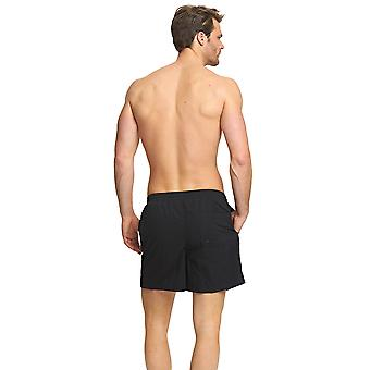 Zoggs Mens Penrith Shorts Black / Navy/Red with an Elasticated Drawstring Waist