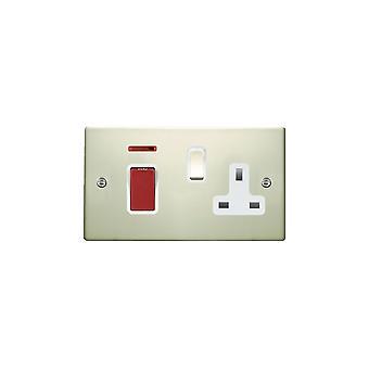 Hamilton Litestat Hartland Pearl Oyster 45DP + Neon + SS1 PO/röd/vit