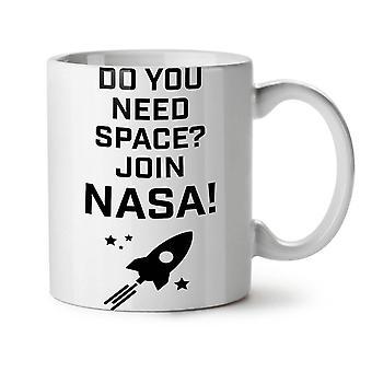 Cosmos espacio citar té blanco nuevo divertido taza de café de cerámica 11 oz | Wellcoda