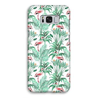 Samsung Galaxy S8 Full Print Case - Flamingo leaves