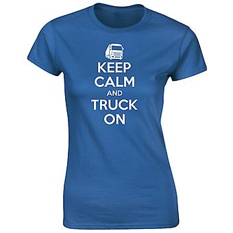 Hålla lugn och lastbil på Womens T-Shirt 8 färger genom swagwear