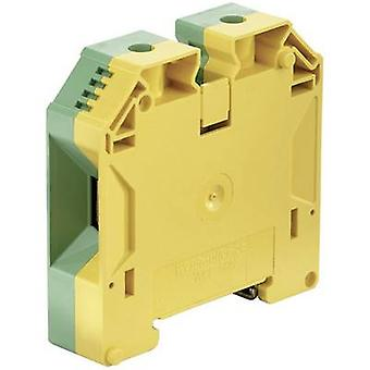 WPE protective conductor terminal blocks WPE 50N 1846040000 Green-yellow