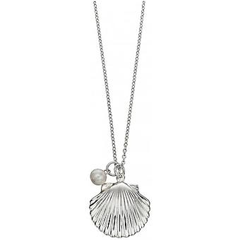 Beginnings Freshwater Pearl Shell Necklace - Silver
