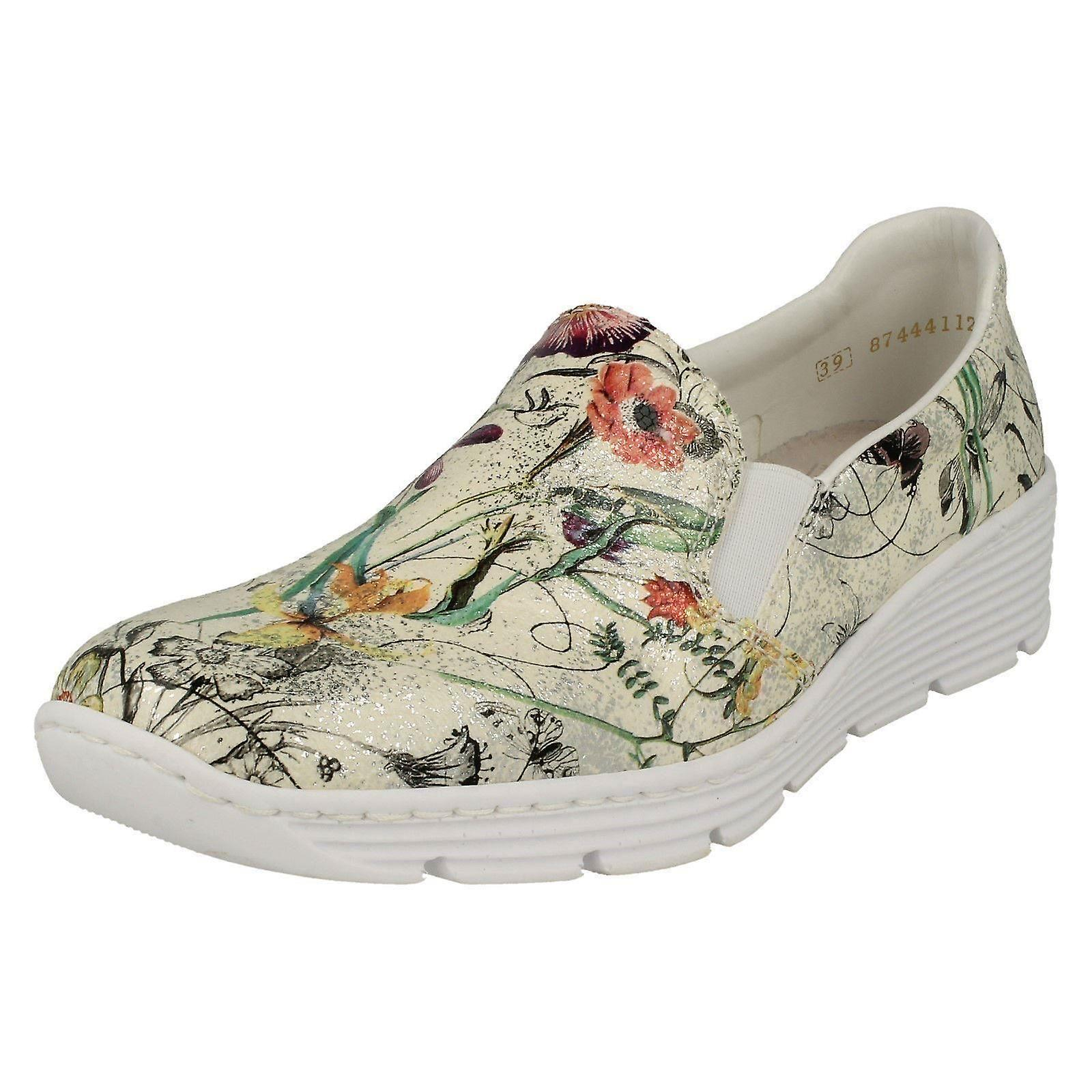 Ladies Rieker Casual Flat Slip On chaussures 58766