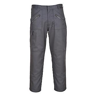 Portwest Action Trousers - Grey Mens Work Pants Multiple Utility Pockets