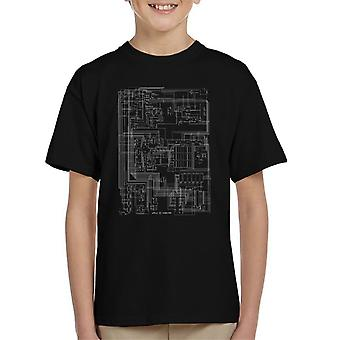 Apple II Computer Schematic Kid's T-Shirt