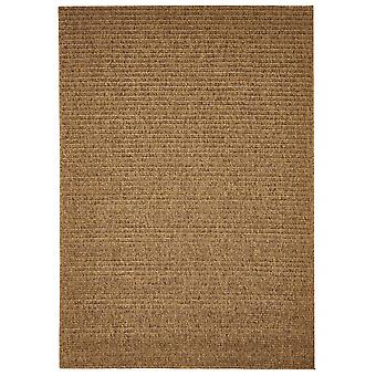 Outdoor carpet for Terrace / balcony of Brown natural plain Mocha 160 / 230 cm carpet indoor / outdoor - for indoors and outdoors