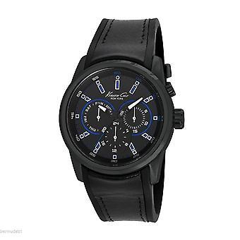 Kenneth Cole New York men's wrist watch analog quartz leather 10022537