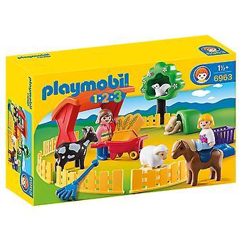 Playmobil 1.2.3 Petting Zoo 6963